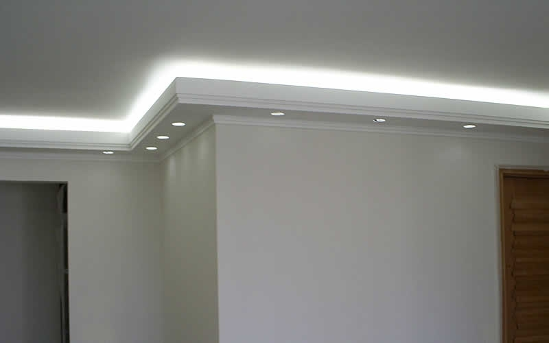 Comprar Sanca de Gesso Invertida Jockey Club - Sanca de Gesso com Led